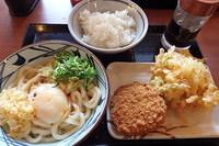 釡玉天ぷらライス