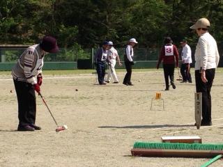 ゲートボール大会が開催されました!
