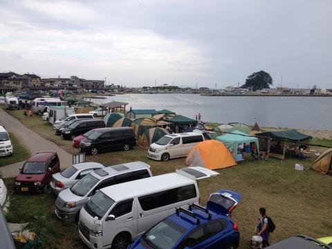 本日のキャンプ場