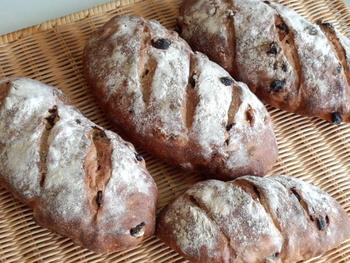 天然酵母のぶどうパン。