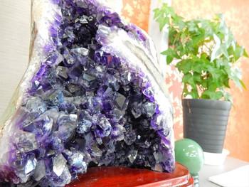 紫水晶と翡翠おかりしました♪