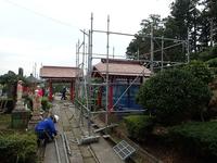 手水場の屋根工事