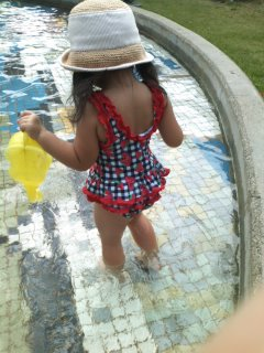 水遊び…☆