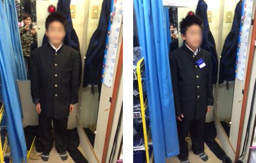 中学校の制服選び