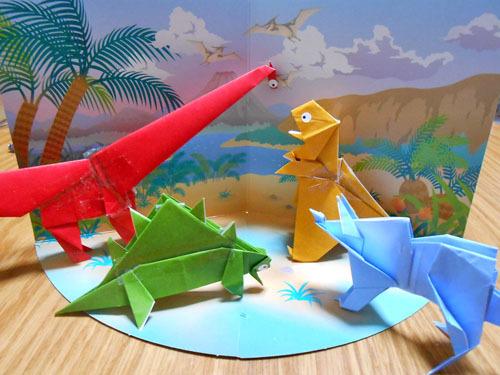 折り紙で恐竜