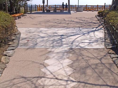 日和山公園の石畳