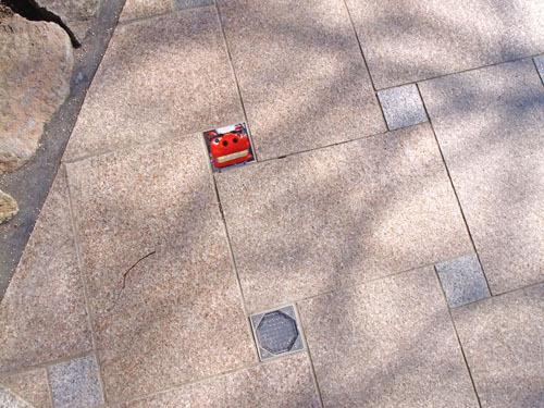 日和山公園の石畳 獅子舞