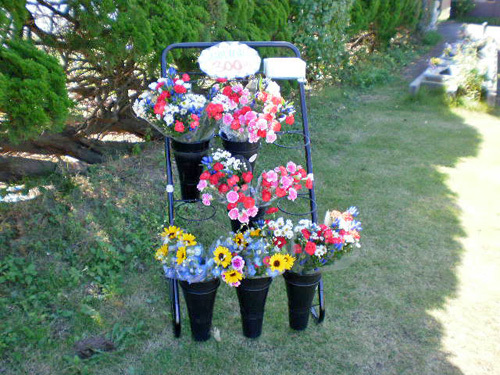 庄内ペット霊園無人供養花コーナー
