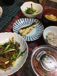 あさつきと豚肉の炒め物