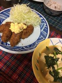 カキフライ(o^^o)