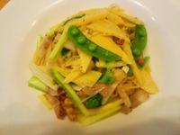 春野菜と自家製ベーコンのペペロンチーノ