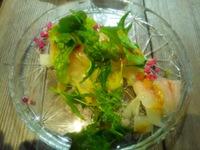真鯛のカルパッチョと野菜