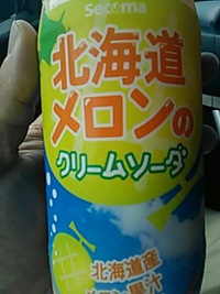 北海道メロンのクリームソーダ