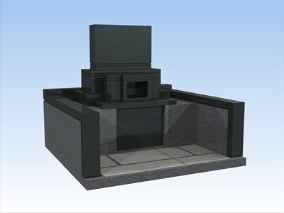 墓石のCG黒