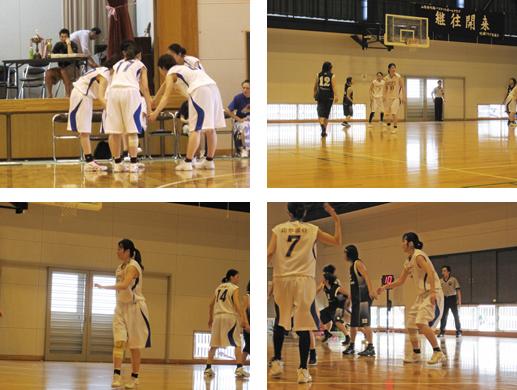 酒田西高で行われたバスケの山形県総合体育大会(国体予選)