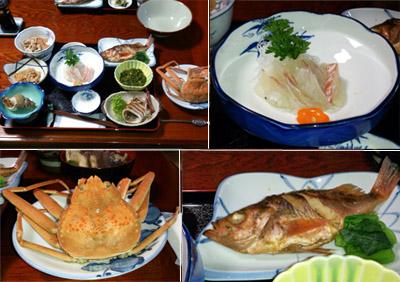 飛島の夕食
