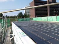 屋根部分が完成する