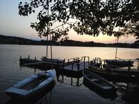 夕陽の徳良湖
