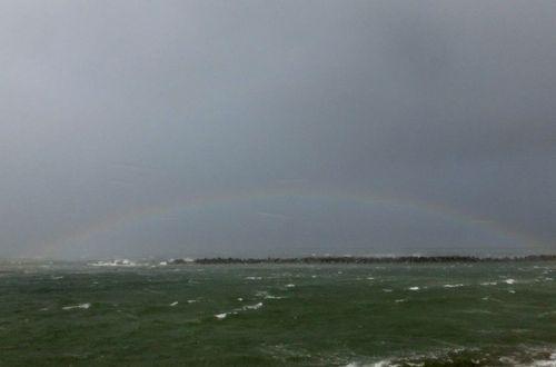 颱風一過の海の虹