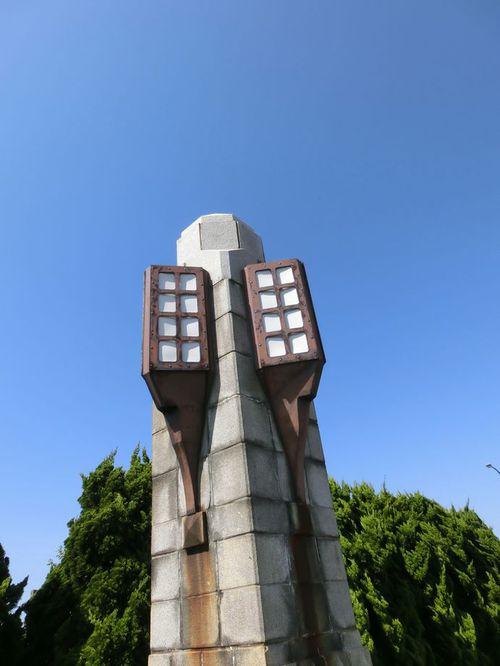 旧両羽橋の親柱