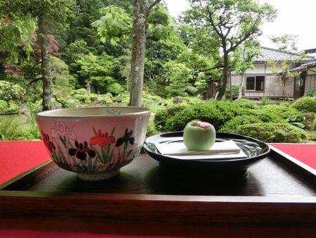 庭園とお抹茶♪