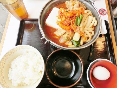 豚チゲ鍋定食