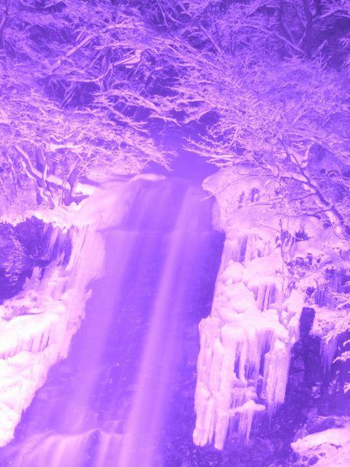 玉簾の滝 冬のライトアップ2017♪