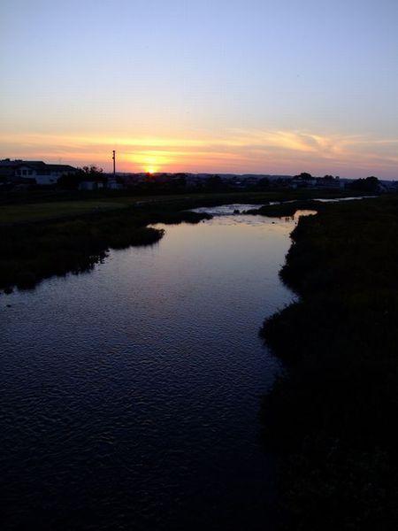 昨日の夕景散歩道