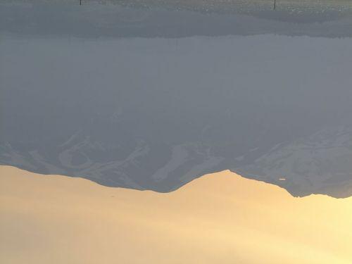 水鏡の鳥海山'15