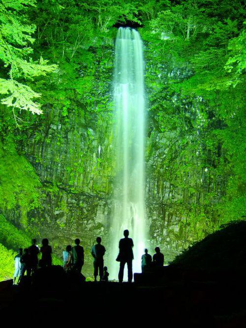 玉簾の滝 夏のライトアップ15