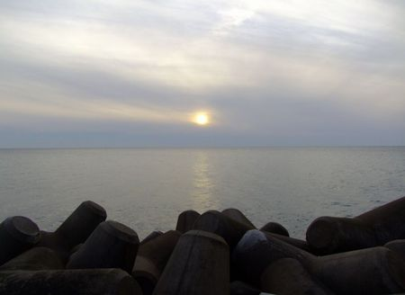 吹浦漁港の夕暮れ♪