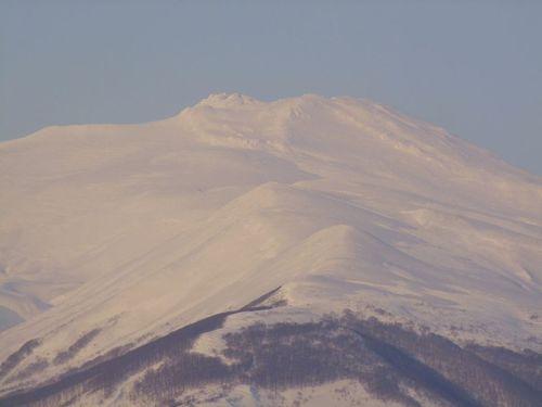今日の夕暮れ鳥海山