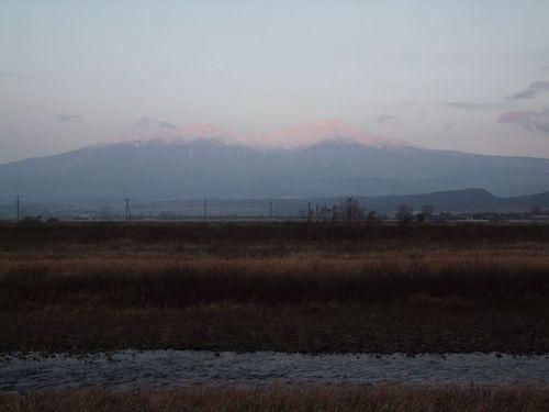 冬至の夕暮れ
