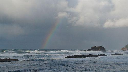 海に架かる虹♪