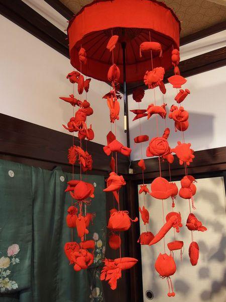 清亀園の古傘福と古典人形展