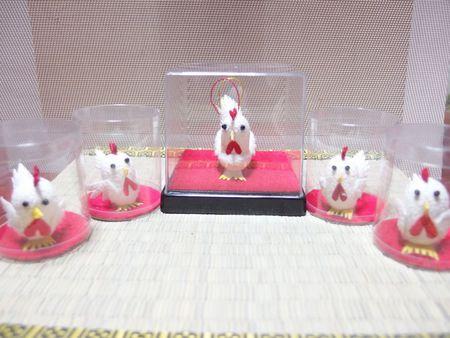 酉の繭玉細工♪