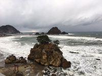 冬の日本海を眺めながら。