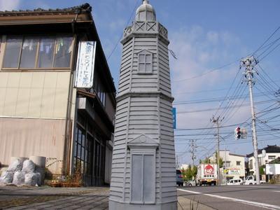 歩道の灯台