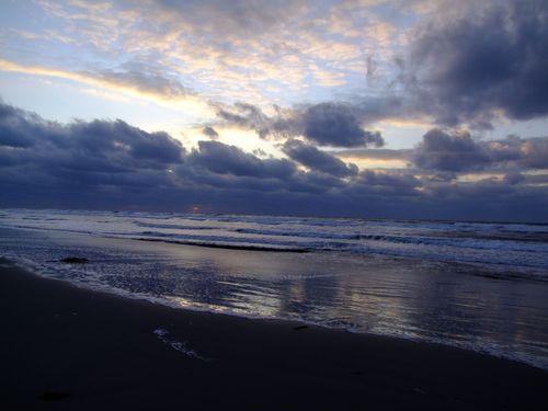 西浜海岸日暮れ前