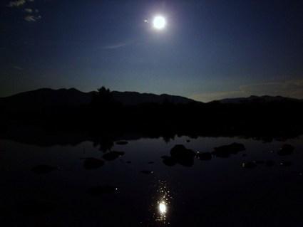 夜の滝見と満月と♪