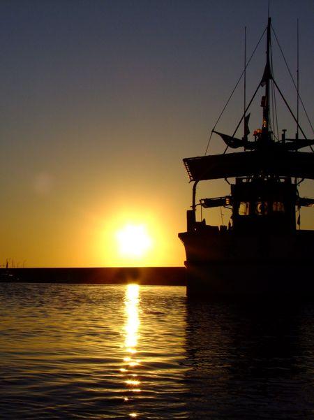 夕景吹浦漁港