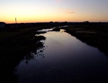 夕景赤鳥海