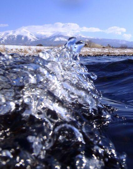 鳥海山と川の中(汗)