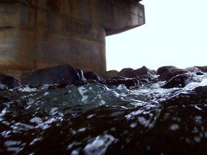 早春の洗沢川