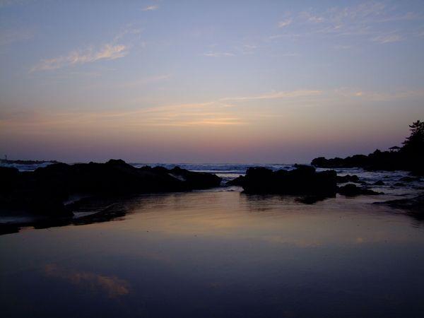夕陽の出羽二見