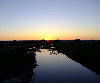 夕映え鳥海