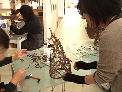 サロネーゼ「つる細工」卓上クリスマスツリー