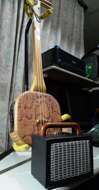 Fender風ミニアンプ ハンドル追加