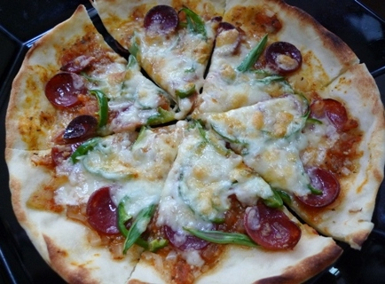 グリルでPizza