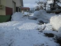 春作業に向けて除雪